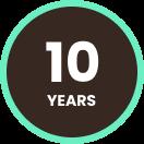10 years of warranty